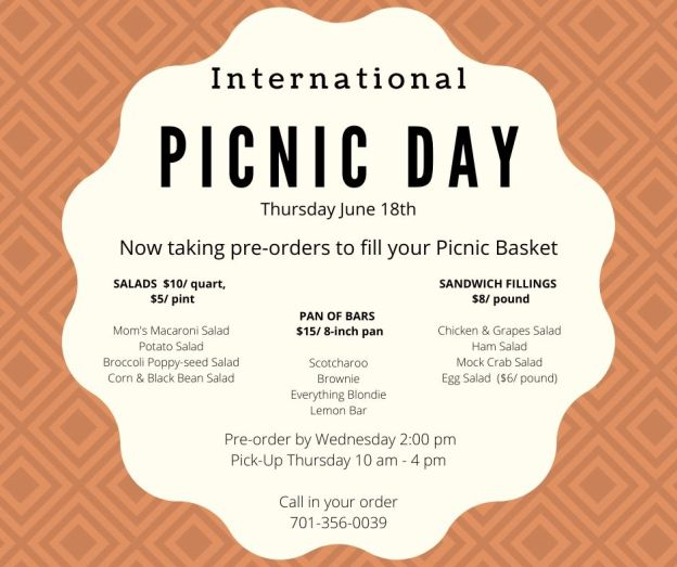 Thursday is national picnic day